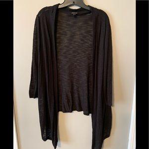 Torrid black slub knit 3/4 sleeve cardigan